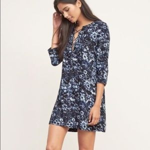 NWT Abercrombie & Fitch floral mini lace-up dress